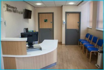 Reception area for the new Endoscopy Suite at BMI Ross Hall hospital, Glasgow